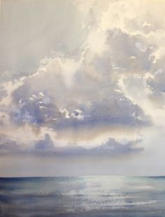 Seascapes and Cloudscapes — Seamless Expression Watercolor Clouds, Watercolor Landscape, Abstract Watercolor, Abstract Landscape, Landscape Paintings, Seascape Paintings, Sky Painting, Guache, Sky Art