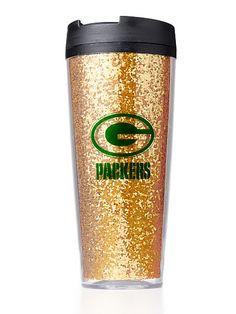 Green Bay Packers Coffee Tumbler. This would be cute for Holly @Susan Caron Caron Caron Caron Baynard