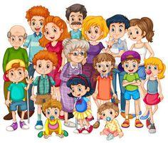 mamie enfant: membres de la famille heureux ensemble en un seul coup