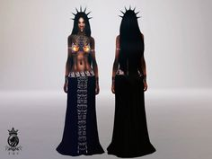 Queen of the Damned (Aaliyah outfit) Created for: The Sims 4  This is a Set with 2 Creations - Click here to show all  Includes top and skirt, standalone, custom thumbnails, HQ textures http://www.thesimsresource.com/downloads/details/category/sims4-sets-clothing-female/title/queen-of-the-damned-%28aaliyah-outfit%29/id/1300642/