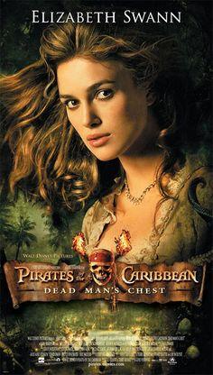 Pirates of the Caribbean: Dead Man's Chest starring Johnny Depp, Orlando Bloom, Keira Knightley, Jack Davenport. Keira Knightley, Keira Christina Knightley, Elizabeth Swann, Best Disney Movies, Good Movies, Love Movie, I Movie, Pirate Movies, Movie Sequels