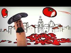 La tomatina de Buñol, fiestas y festivales de España, Guerra de tomates - YouTube