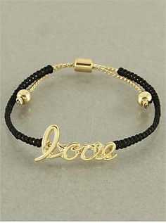 Black Love Bracelet from P.S. I Love You More Boutique