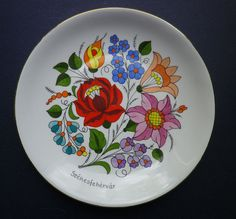 I love anything Kalocsai! :)   Hungarian Plate Hand Painted by woodenvinesales on Etsy, $15.00