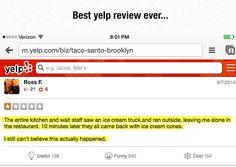 Hilarious Yelp Review