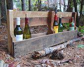 Reclaimed Wood Pallet Shelf/Wine Rack/Book Shelf
