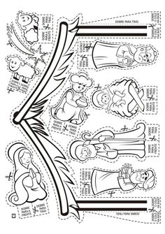 Nativity CP or cut outs Preschool Christmas, Christmas Nativity, Christmas Crafts For Kids, Christmas Activities, Christmas Colors, Holiday Crafts, Christmas Holidays, Nativity Coloring Pages, Christmas Coloring Pages