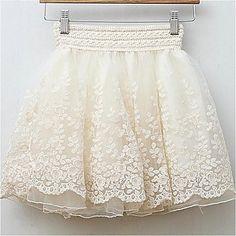 Flower Mesh Skirt //