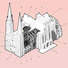 Cathedral typology study #cathedral #architecture #diagram #axon #axonometric #drawing #illustration #graphic #infographic art #graphicdesign #design #superarchitects #next_top_architects #storeyshots #archilife #architecturephotography #research #church #religion #architecture #archilovers #architecturelovers #photography #arch_more #workaholic #studio #architectureschool #architecturestudent #penndesign