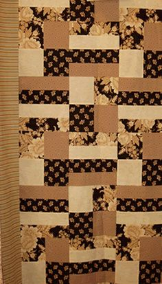 Four and a Rail Five Yard Quilt Patterns 5 1 yard cuts Strip Quilt Patterns, Strip Quilts, Patch Quilt, Scrappy Quilts, Easy Quilts, Quilt Blocks, Quilting Patterns, Hand Quilting Designs, Quilting Projects