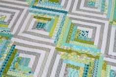 Baltimore Modern Quilt Guild: Modern Log Cabin Challenge to Benefit Southeast Early Headstart