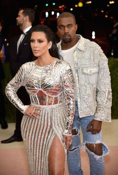 "Metallic silver, like that sported by Kim Kardashian and Kanye West, was the most popular look of the night next to ""not wearing any computers."""