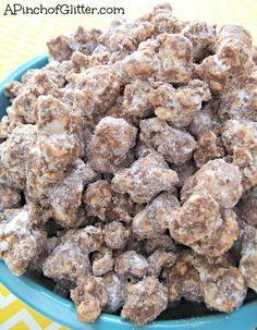 Muddy Buddy Popcorn: A Pinch of Glitter