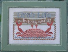 Grab Life - To the Beach #8 - Cross Stitch Pattern