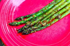 Grilled Asparagus with Whole Grain Mustard Vinaigrette - Dad Cooks Dinner