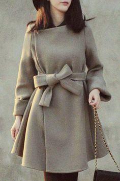 Women Cashmere Coat New 2016 Casacos Femininos Women's Slim Woolen Coats Female Autumn Winter Wool Coat Wool Dress, Belted Dress, Belted Coat, Coatdress, Coats For Women, Clothes For Women, Langer Mantel, Outerwear Women, Wool Coat
