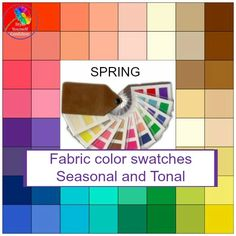 Fabric color analysis swatch fans - amazing color palette for Seasonal and Tonal color families. Winter Colors, Spring Colors, Capsule Wardrobe Women, Work Wardrobe, Deep Autumn, Warm Autumn, Petite Body, Seasonal Color Analysis, Color Swatches