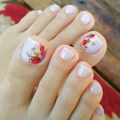 Uñas Decoradas Con Flores Y Mariposas Para Los Pies In 2019 Nails