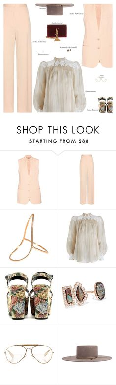 """""""Monday"""" by amberelb ❤ liked on Polyvore featuring STELLA McCARTNEY, Zimmermann, Yves Saint Laurent, Kimberly McDonald and CÉLINE"""