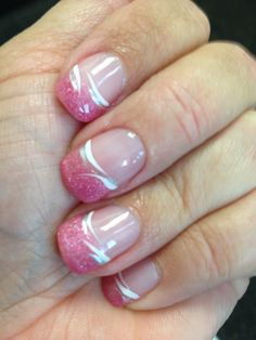 My awesome pink French organic gel nails with super cute detailing! French Nail Designs, Diy Nail Designs, Art Designs, Gel Nail Art, Easy Nail Art, Diy Nails, Cute Nails, Gel Nails French, French Manicures
