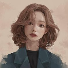 Ideas For Hair Art Illustration Portraits Digital Portrait, Portrait Art, Hiba Tan, Stil Inspiration, How To Draw Hair, Anime Art Girl, Drawing People, Amazing Art, Fashion Art