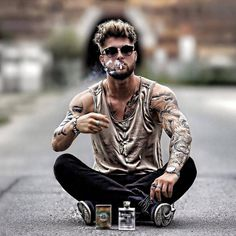Comment below credi boy fashion, mens fashion, gents hair style, bad boy st Portrait Photography Men, Photography Poses For Men, Männermodels Tattoo, Tattoos, Gents Hair Style, Bad Boy Style, Boy Fashion, Mens Fashion, Swag Fashion