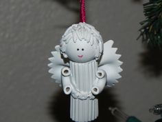 pasta angels ornaments rice hair, mac elbows