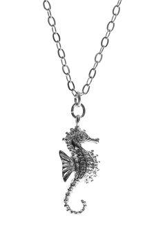 HORSEFISH!!!  Lol Jami Rodriguez Silver Seahorse Necklace