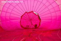 inside the pink balloon