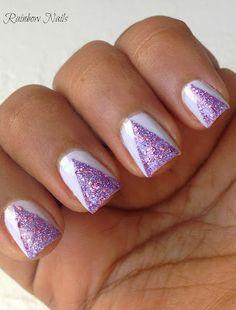 Simple Triangle nails #nails #nailart
