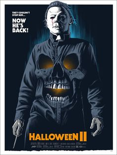 to - Watch Halloween II online full and free now: In a continuation of the plot of Halloween, Michael Myers shows off his indestructability by resuming his murder spree despite being Horror Movie Posters, Horror Icons, Movie Poster Art, Films D' Halloween, Halloween Horror, Halloween 2018, Halloween Poster, Creepy Halloween, Halloween Halloween