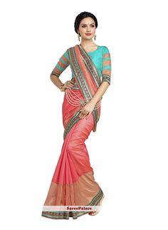 Compelling Patch Border Work Banarasi Silk Designer Saree