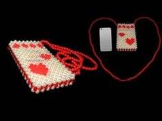 How to make beaded mobile bag/ beaded mobile cover/ পুতির মোবাইল ব্যাগ Beaded Clutch, Beaded Purses, Beaded Bags, Beaded Jewelry, Brick Stitch Tutorial, Origami And Kirigami, Beaded Crafts, Mobile Covers, Handicraft