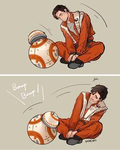 Aww! BB-8 & Poe Dameron