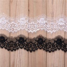 black white wavy eyelash lace trimming ribbon, contact BDJIN@FOXMAIL.COM for more details