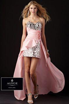 Black Label by Alyce 5432 Strapless Hi-Lo Dress Website Special