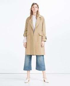 Image 1 of LONG TRENCH COAT from Zara