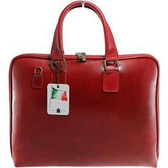 - Laptop tassen - aktetas van soepele leder rode kleur