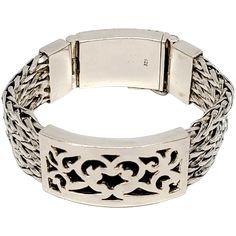 Sterling Silver Multi-Strand Woven/Wheat Bracelet Box Clasp Bracelet Box, Bracelets, Vintage Silver Jewelry, Vintage Fashion, Belt, Sterling Silver, Accessories, Belts, Fashion Vintage