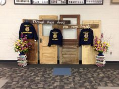 Awesome backdrop for FFA banquet and real easy to set up!