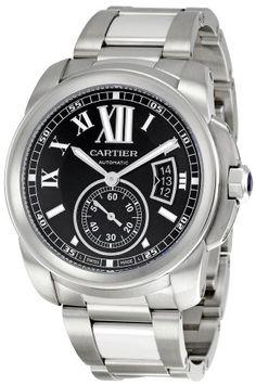 Review Cartier Men's W7100016 Calibre De Cartier Black Dial Watch By Cartier | REVIEW WATCHES PRODUCTS