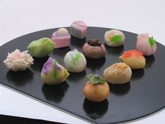 Wagashi (和菓子 wa-gashi?) is a traditional Japanese confectionery which is often served with tea, especially the types made of mochi, anko (azuki bean paste), and fruits. Wagashi is typically made from plant ingredients