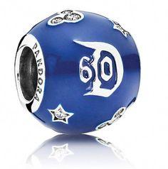 13712352d Disney Pandora Charm - Disneyland 60th Anniversary - Blue  #SilverJewelryforMan