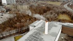 Smoke Coming Out Of A Manufacturing Plants's Chimney · Free Stock Video