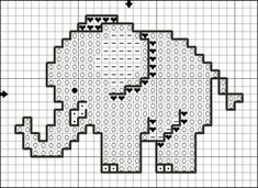 Free cross stitch patterns elephants
