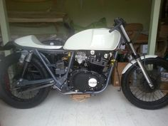 Suzuki gs450 cafe racer almost ready for the road