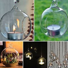 hanging globe candle holders - Google Search