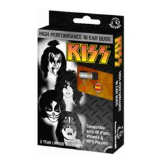 KISS Earbuds - When Simmons shouts it loud, you'll hear it crystal clear with these high performance KISS Earbuds, ideal for use with any mobile device or MP3 player.