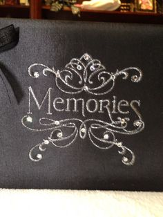 Black Photo Album embellished with Bow and by MotherOfAllBling