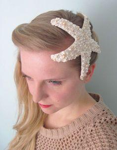 SALE L'Étoile De Mer- ivory starfish hair comb. $70.00, via Etsy.    @Shelley Voelker